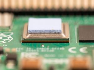 heatsink pad sulla scheda RPI4