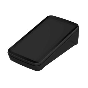 Contenitore IP65 con frontale inclinato - Nero